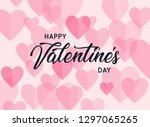 happy valentines day greetings... | Shutterstock .eps vector #1297065265