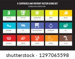 set of 15 flat e commerce and... | Shutterstock .eps vector #1297065598