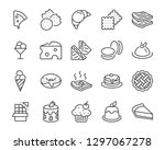 set of bakery icons  such as... | Shutterstock .eps vector #1297067278