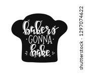 bakers conna bake hand drawn... | Shutterstock .eps vector #1297074622