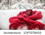 cup with two hearts and a hot... | Shutterstock . vector #1297078435