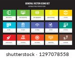 set of 15 flat general icons  ... | Shutterstock .eps vector #1297078558