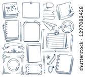 bullet journal sketch elements. ... | Shutterstock .eps vector #1297082428