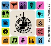 party and celebration icon set. ...   Shutterstock .eps vector #1297086712