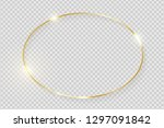gold shiny glowing vintage... | Shutterstock .eps vector #1297091842