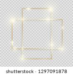 gold shiny glowing vintage... | Shutterstock .eps vector #1297091878