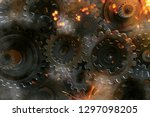 gears with sparks  3d rendering  | Shutterstock . vector #1297098205