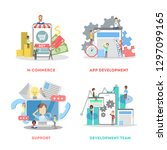 set of app development web...