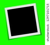 black and white  polaroid photo ... | Shutterstock .eps vector #1297101715
