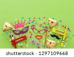 purim celebration concept ... | Shutterstock . vector #1297109668