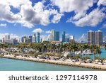 heavy traffic on miami highway... | Shutterstock . vector #1297114978