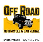 off road car and motorcycle... | Shutterstock .eps vector #1297119142