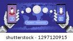 global money transfer. graphic... | Shutterstock .eps vector #1297120915