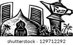 vector illustration of a casino | Shutterstock .eps vector #129712292