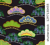 japanese pattern. ornament with ... | Shutterstock .eps vector #1297130455