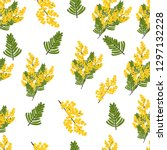 seamless pattern with branches... | Shutterstock .eps vector #1297132228