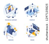modern flat isometric designed... | Shutterstock .eps vector #1297135825