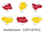 organic and geometric shape... | Shutterstock .eps vector #1297137412