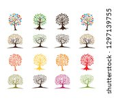 set of tree logo collection  ... | Shutterstock .eps vector #1297139755