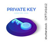 private key. digital key with... | Shutterstock .eps vector #1297141612