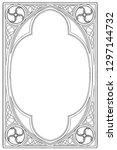 medieval manuscript style... | Shutterstock .eps vector #1297144732