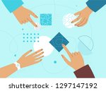 vector illustration in flat... | Shutterstock .eps vector #1297147192