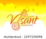 illustration of happy vasant... | Shutterstock .eps vector #1297154098