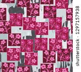 seamless pattern made up of...   Shutterstock .eps vector #1297157938