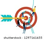 business concept. isolated on... | Shutterstock .eps vector #1297161655