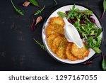 potato fritters draniki... | Shutterstock . vector #1297167055