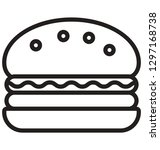burger isolated vector icon...   Shutterstock .eps vector #1297168738