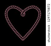 black and pink twine rope heart ...   Shutterstock .eps vector #1297175872