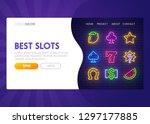 online slot   landing page....   Shutterstock .eps vector #1297177885