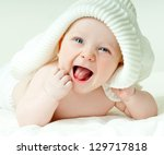 laughing baby | Shutterstock . vector #129717818