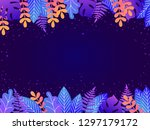floral background with copy...   Shutterstock .eps vector #1297179172