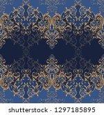 classic baroque ornamental... | Shutterstock .eps vector #1297185895