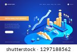data analysis service isometric ... | Shutterstock .eps vector #1297188562