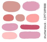 makeup swatches  beauty and... | Shutterstock .eps vector #1297189888