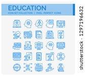 education icons set. ui pixel... | Shutterstock .eps vector #1297196632