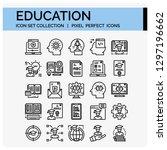 education icons set. ui pixel... | Shutterstock .eps vector #1297196662