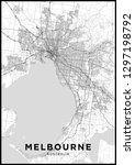 melbourne  australia  city map. ... | Shutterstock .eps vector #1297198792