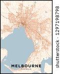 melbourne  australia  city map. ... | Shutterstock .eps vector #1297198798