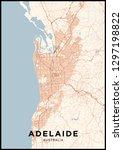 adelaide  australia  city map....   Shutterstock .eps vector #1297198822