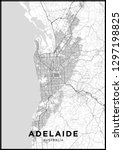 adelaide  australia  city map.... | Shutterstock .eps vector #1297198825