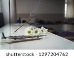 indian smoky aroma sticks with... | Shutterstock . vector #1297204762