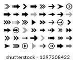 arrows big black set icons.... | Shutterstock .eps vector #1297208422