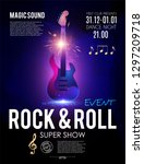 rock n roll party poster... | Shutterstock .eps vector #1297209718