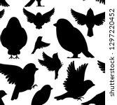 black silhouette. seamless... | Shutterstock .eps vector #1297220452