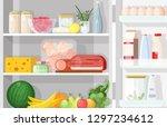Modern Refrigerator With Opene...