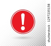 exclamation mark in red circle... | Shutterstock .eps vector #1297235158